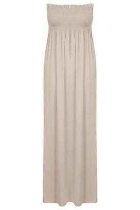 ER Traders Ltd Ladies Casual Plus Size Sheering Beach Long Boobtube Bandeau Maxi Dress (XL/XXL UK 20-22