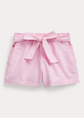 Ralph Lauren Belted Cotton Oxford Short