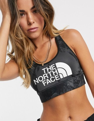 The North Face Bounce Be Gone sports bra in black/grey
