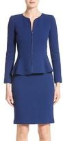 Armani Collezioni Women's Double Crepe Peplum Jacket