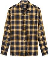Banana Republic Untucked Slim-Fit Crinkle Flannel Shirt