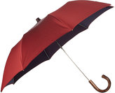 Barneys New York Men's Micro-Dot Folding Umbrella