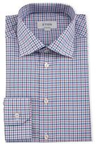 Eton Contemporary-Fit Plaid Dress Shirt, Pink