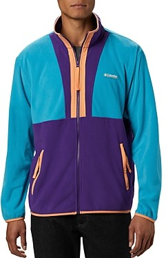 Columbia Color-Blocked Upf 50 Regular Fit Back Bowl Fleece Jacket