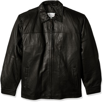 Excelled Leather Excelled Men's Big and Tall New Zealand Lambskin Leather Classic Open Bottom Jacket