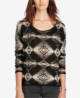 Denim & Supply Ralph Lauren Southwestern Boat-Neck Sweater