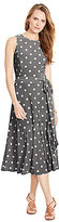 Lauren Ralph Lauren Plus Polka-Dot Jersey Dress