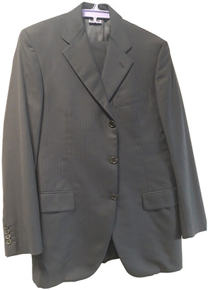 Burberry Black Wool Suits