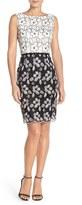 Ellen Tracy Women's Floral Lace Sheath Dress With Belt