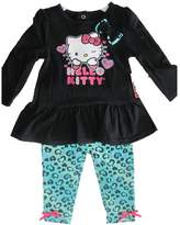 Hello Kitty Baby Girls Blue Leopard Spot Glittery Applique Dress 12M
