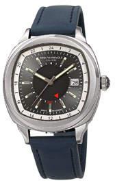 Bruno Magli Men's Enzo Cushion Watch w/ Leather Strap, Blue/Silver