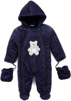 Sweet & Soft Navy Teddy Snowsuit - Infant