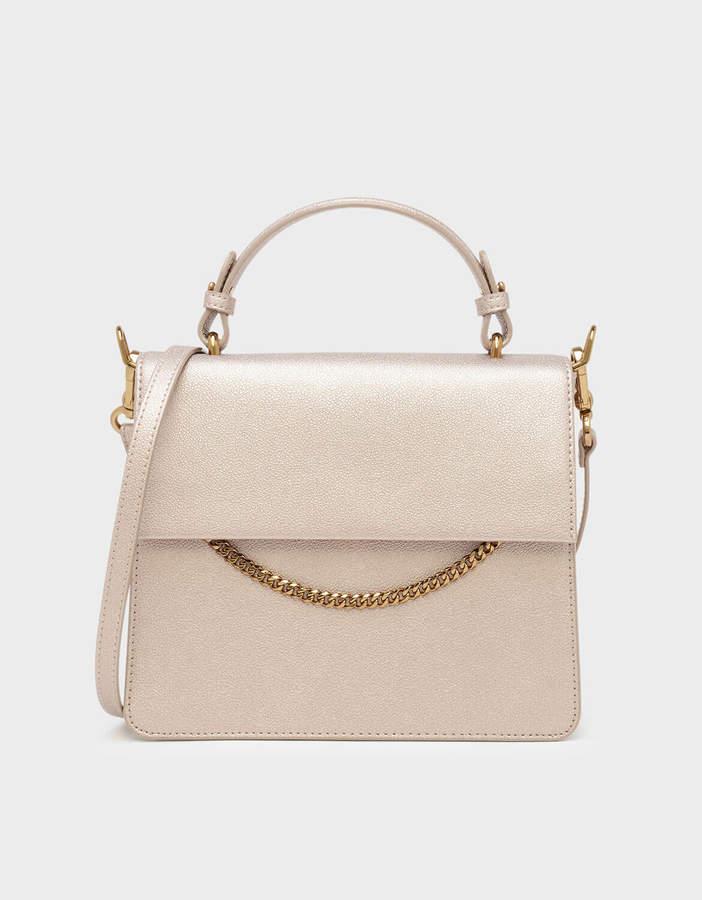 Charles & Keith Top Handle Chain Detail Bag