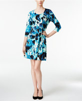 NY Collection Petite Printed Fit & Flare Dress