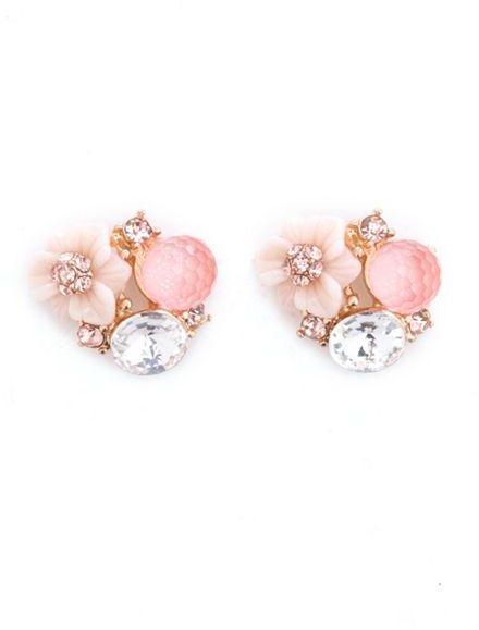 Charlotte Russe Enchanted Flower Stud Earrings