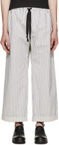 Phoebe English Black and White Wide-leg Trousers
