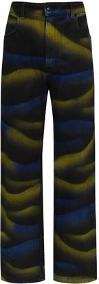 Eckhaus Latta High-Waist Tie-Dye Wide-Leg Jeans