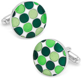 L2 by Loma Green Polka Dot Cufflinks