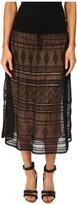 M Missoni Fancy Ribbon Knit Knee Length Skirt