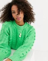 Asos Design DESIGN premium cable bobble stitch sweater