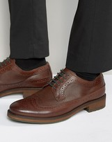 Dune Textured Brogues In Brown