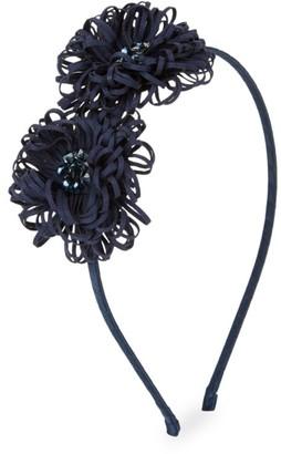 Bari Lynn Swarovski Crystal Frilly Flower Headband
