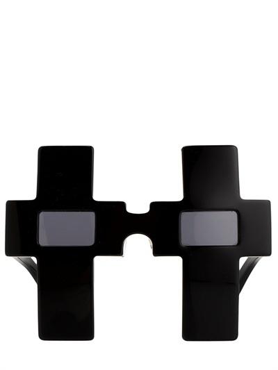 Jeremy Scott Cross Acetate Sunglasses