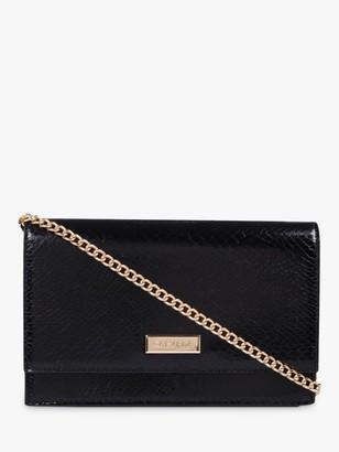 Carvela Koko Croc Print Clutch Bag