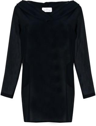 Pour Les Femmes hooded tunic dress