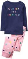 Crazy 8 Glitter For Breakfast 2-Piece Pajama Set