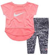 Nike Short-Sleeve Top and Printed Leggings Set