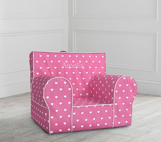 Pottery Barn Kids Bright Pink Heart Anywhere Chair Slipcover Only
