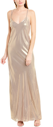 Mason by Michelle Mason Bias-Cut Silk-Lined Gown