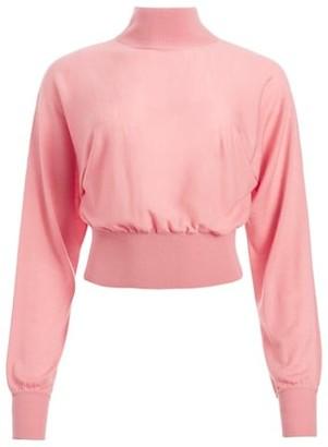 Alice + Olivia Dia Slouchy Stretch-Wool Dolman Sweater
