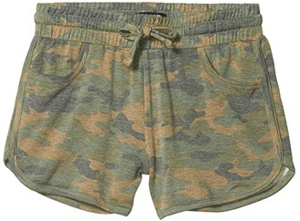 Joe's Jeans Dolphin Hem Shorts (Big Kids) (Camo Print) Girl's Shorts