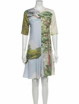 Stella McCartney Printed Knee-Length Dress Blue
