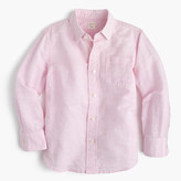 J.Crew Kids' linen-cotton shirt