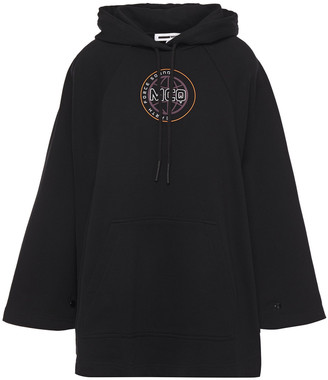 McQ Oversized Printed French Cotton-terry Hoodie