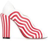 Fendi striped pumps - women - Leather - 37.5