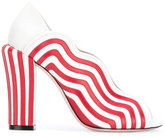 Fendi striped 'Wave' pumps - women - Leather - 38.5