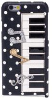 Dolce & Gabbana Polka Dot Piano Leather Phone Case