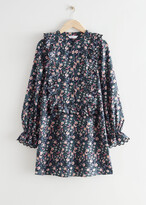 Thumbnail for your product : And other stories Ruffled Embroidered A-Line Mini Dress