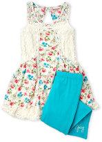 Juicy Couture Girls 4-6x) Two-Piece Floral Crochet Dress & Leggings Set