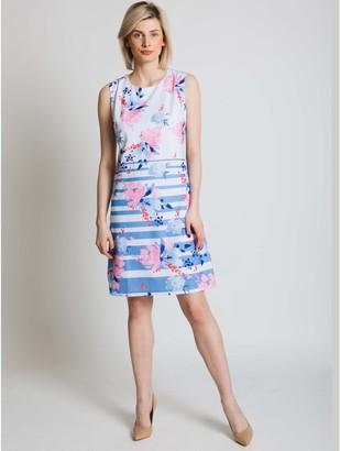 M&Co Jessica Graaf stripe and floral print dress