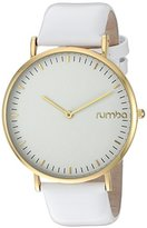 RumbaTime Women's 'SoHo Patent Leather' Quartz Metal Casual Watch, Color:White (Model: 24777)