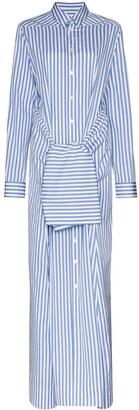 Jil Sander Tie-Waist Maxi Shirt Dress