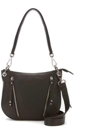 Mint Velvet Claire Black Leather Bag