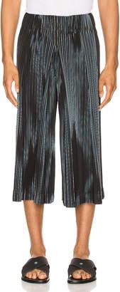 Issey Miyake Homme Plisse Printed Tailored Pant in Navy | FWRD