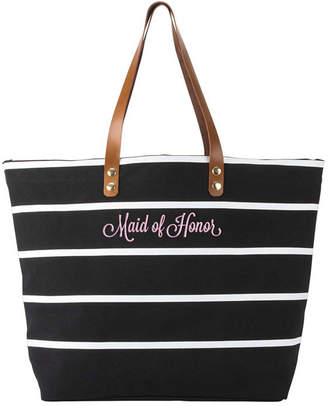 Cathy's Concepts Cathy Concepts Maid Of Honor Striped Tote