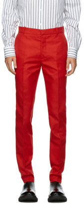 Alexander McQueen Red Classic 17cm Trousers